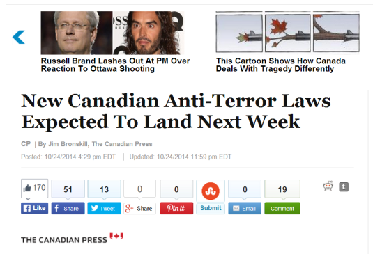 harper canadian government anti terror act bills passed to arrest without crime being committed