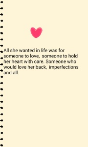 All she wanted. ...