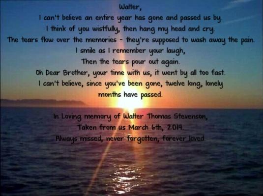 in loving memory of Walter